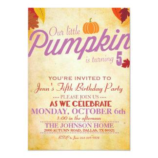 Invitación temática del fiesta del otoño para los