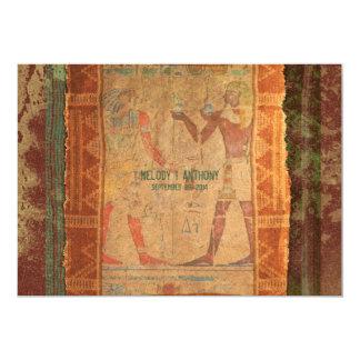 Invitación temática egipcia antigua del boda