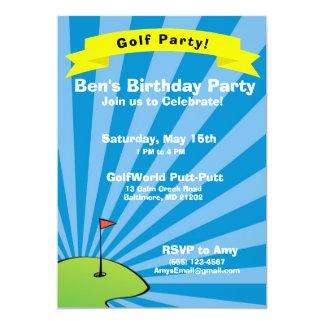 Invitación temática Golfing de la fiesta de