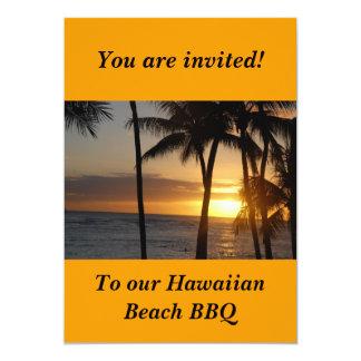 Invitación temática hawaiana del fiesta