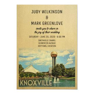 Invitación Tennessee del boda de Knoxville