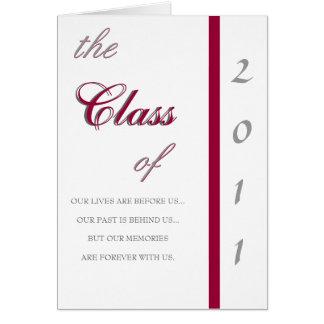 Invitación tradicional de la graduación 2011 tarjeta de felicitación