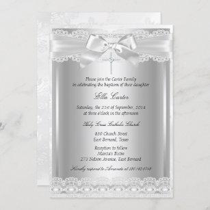 Invitación Traje y bautismo cruzado/Invitación a la cristian