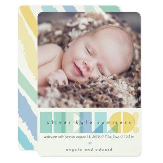 Tarjeta Invitación transparente del nacimiento de la foto