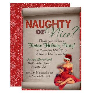 Invitación traviesa o Niza de la fiesta de Navidad