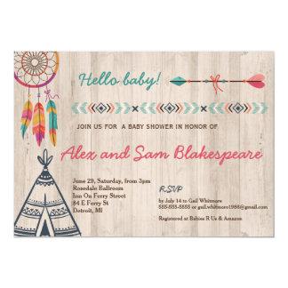 Invitación tribal de la fiesta de bienvenida al