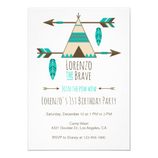 Invitación tribal de la fiesta de cumpleaños del