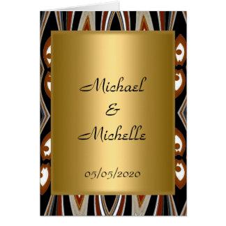 Invitación tribal del oro del boda