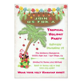 Invitación tropical de la celebración de días