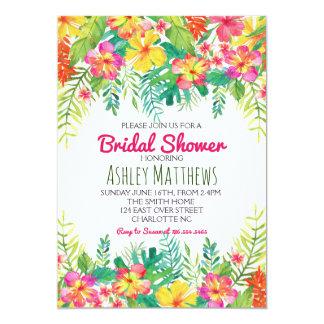 Invitación tropical de la ducha de la acuarela de