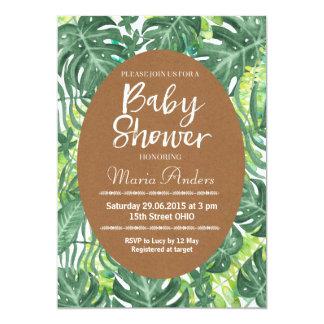 Invitación tropical de la fiesta de bienvenida al