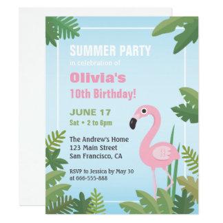 Invitación tropical de la fiesta de cumpleaños del