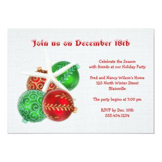 Invitación tropical de la fiesta de Navidad con Invitación 12,7 X 17,8 Cm