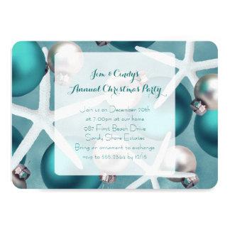 Invitación tropical de la fiesta de Navidad del