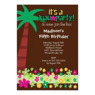 Invitación tropical de la fiesta en la piscina del invitación 12,7 x 17,8 cm