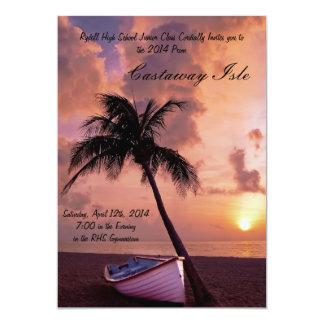 Invitación tropical del baile de fin de curso de invitación 12,7 x 17,8 cm