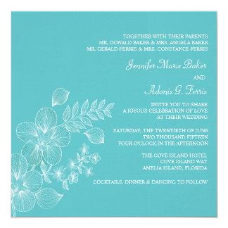 Invitación tropical del boda de la dicha invitación 13,3 cm x 13,3cm