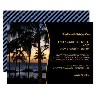 Invitación tropical del boda del destino
