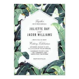 Invitación tropical del boda del destino de la
