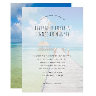 Invitación tropical del boda del paraíso de la