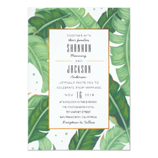 Invitación tropical del boda del verano