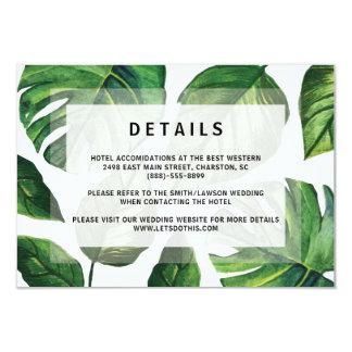 Invitación tropical del boda, invitación de boda