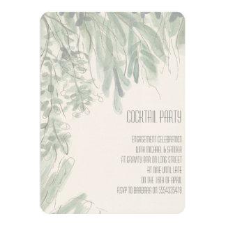 Invitación tropical del compromiso del cóctel