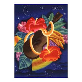 Invitación tropical hawaiana de las noches del Uku