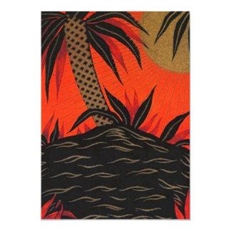 Invitación tropical polinesia de Luau de las