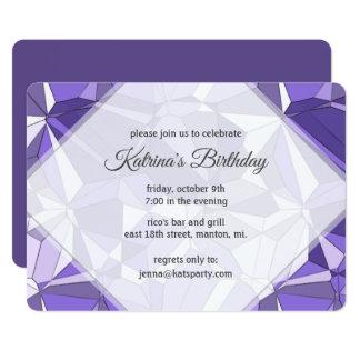 Invitación ultravioleta del fiesta del modelo de