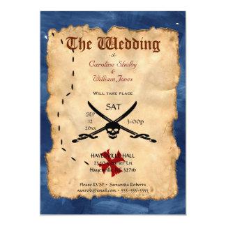 Invitación única del boda del cráneo y de la