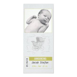 Invitación unisex del nacimiento del carro de bebé