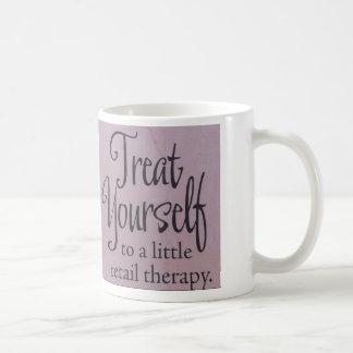 Invitación usted mismo a una poca terapia al por taza de café