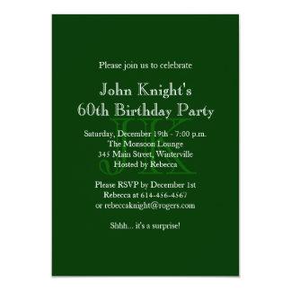 Invitación verde clásica del cumpleaños