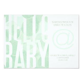 Invitación verde de Babyshower del Watercolour de