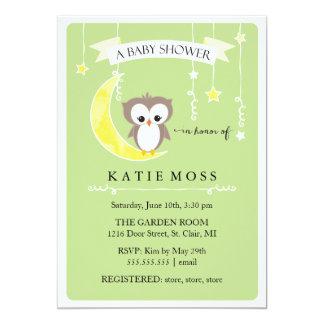 Invitación verde de la fiesta de bienvenida al invitación 12,7 x 17,8 cm