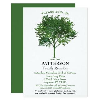 Invitación verde de la reunión de familia del