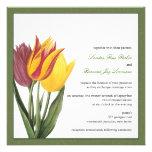 Invitación verde del boda de la frontera de los tu