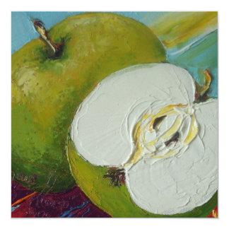 Invitación verde del fiesta de las manzanas del