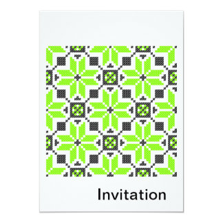 Invitación verde fresca fluorescente del limón invitación 12,7 x 17,8 cm