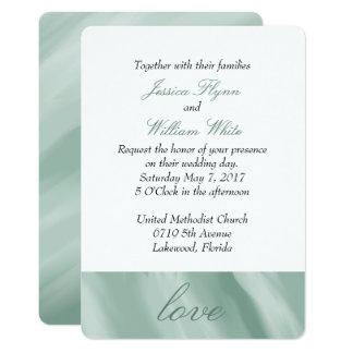 Invitación veteada del boda del blanco y de la