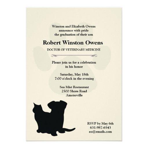 Invitación veterinaria de la graduación de la impr