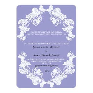 Invitación violeta del boda de la frontera