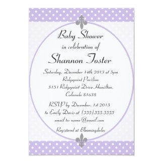 Invitación violeta formal de la fiesta de