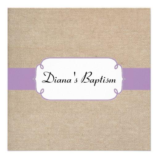 Invitación violeta y beige del vintage de la arpil