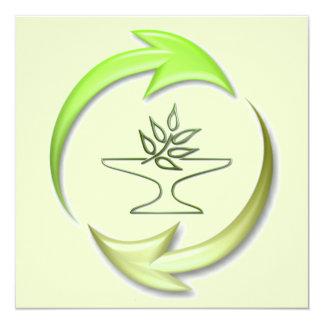 Invitación viva verde invitación 13,3 cm x 13,3cm