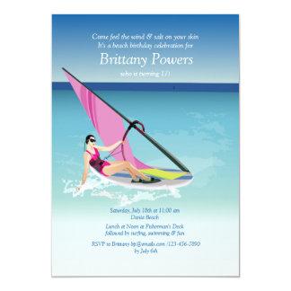Invitación Windsurfing del chica