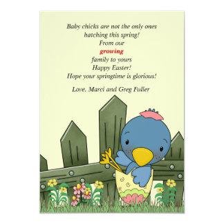 Invitación y Pascua C del embarazo del pájaro del