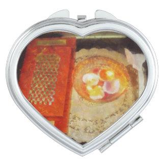 Invitación y velas de boda espejo para el bolso