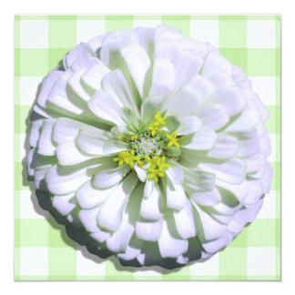 Invitación - Zinnia blanco Lemony